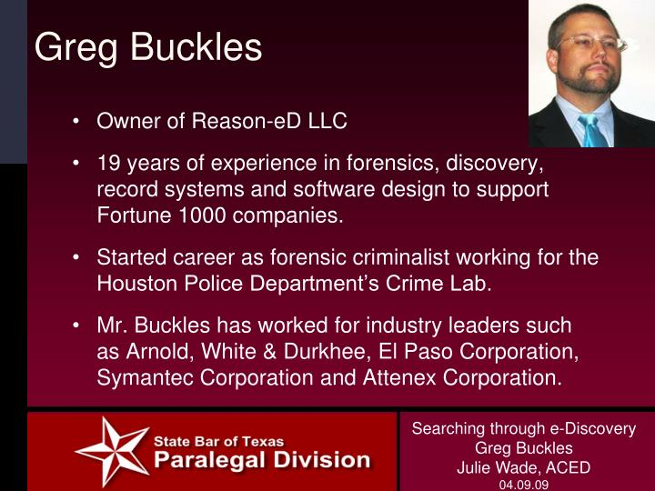 Greg Buckles