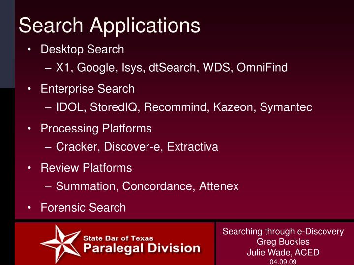 Search Applications