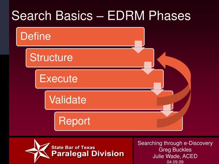 Search Basics – EDRM Phases