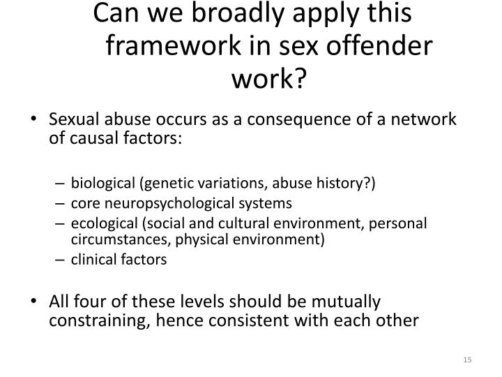 Can we broadly apply this framework in sex offender work?