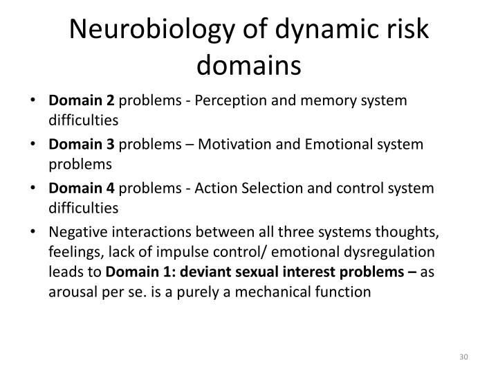 Neurobiology of dynamic risk domains