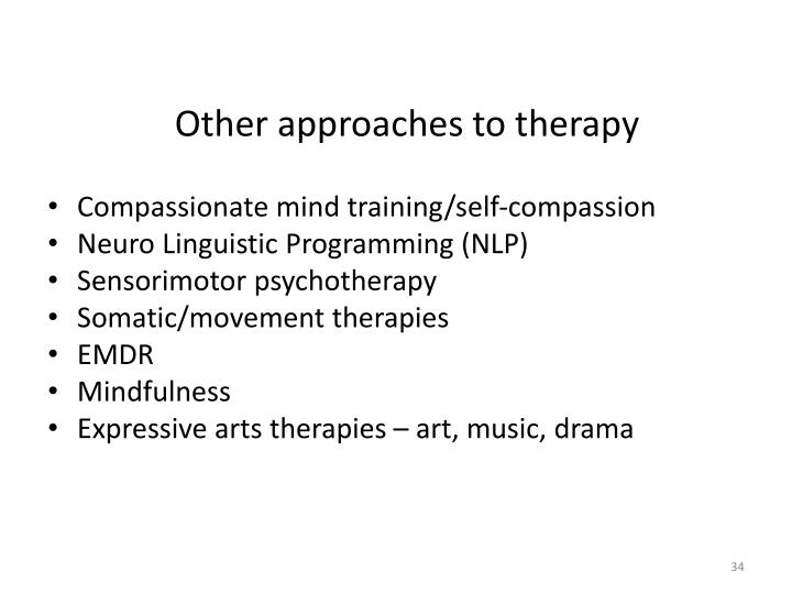 Other approaches to therapy