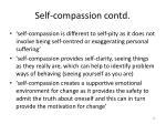 self compassion contd