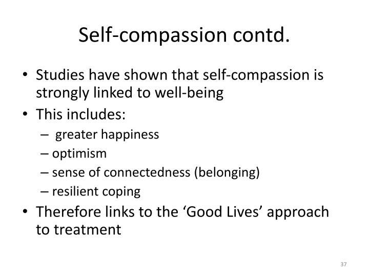Self-compassion contd.