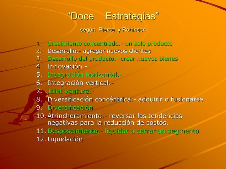 """""""Doce    Estrategias"""""""