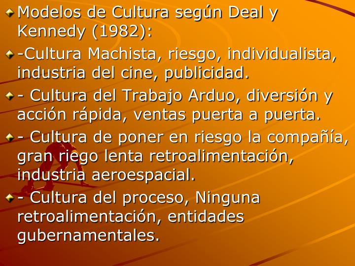Modelos de Cultura según