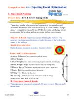 example case study s9 sporting event optimization