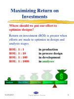 maximizing return on investments