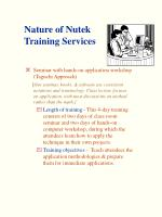 nature of nutek training services