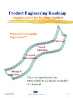 product engineering roadmap opportunities for building quality