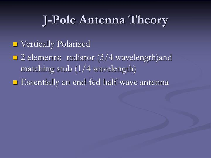 J-Pole Antenna Theory