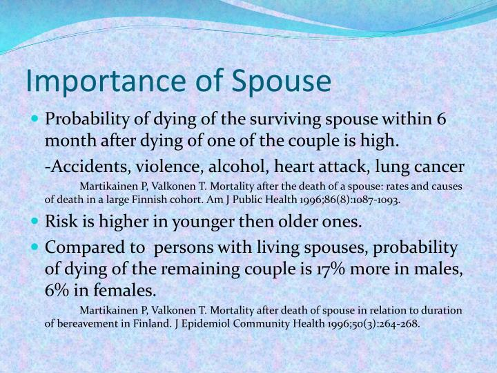 Importance of Spouse