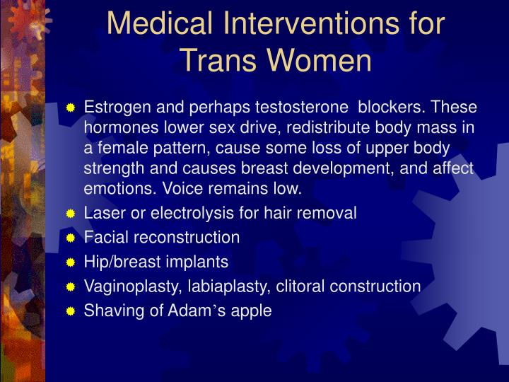 Medical Interventions for Trans Women