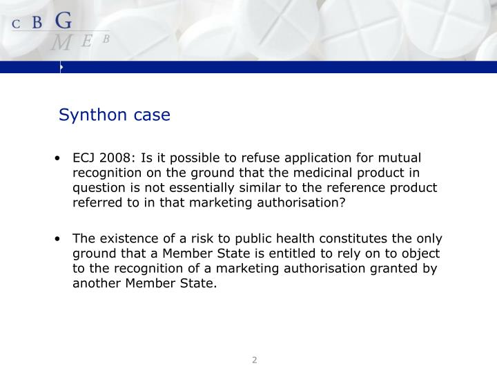 Synthon case