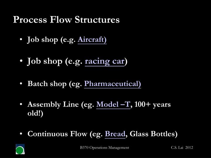 Process Flow Structures