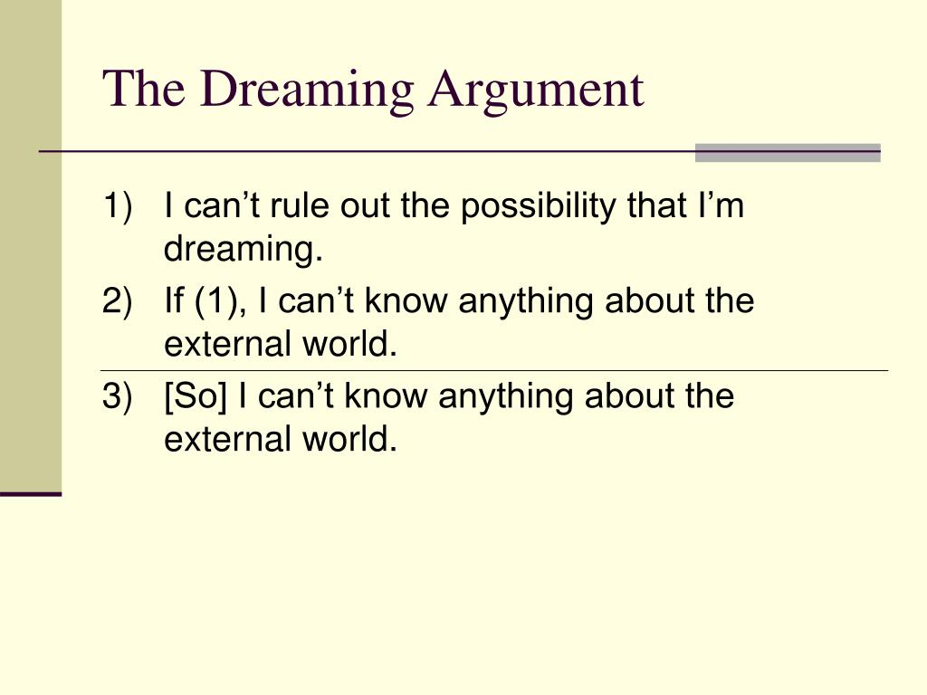 The Dreaming Argument