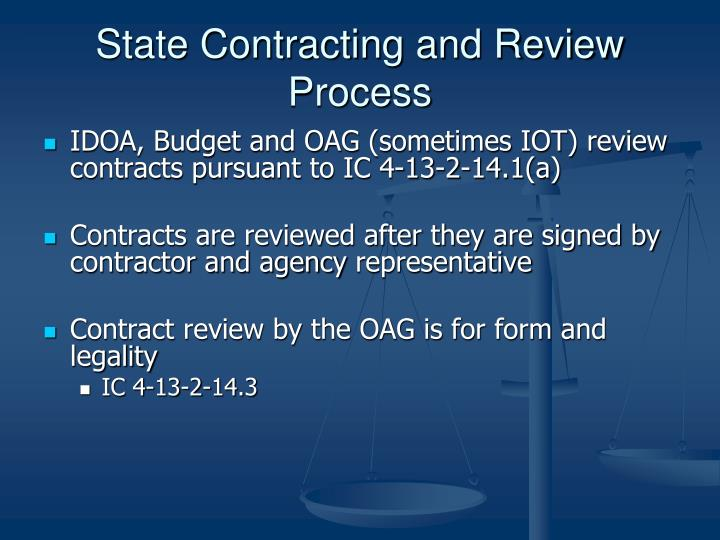 State contracting and review process