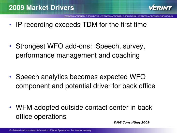 2009 Market Drivers