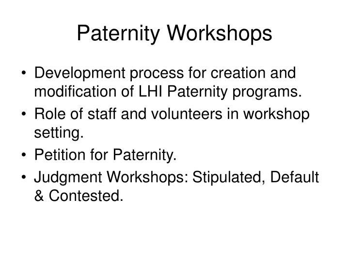 Paternity Workshops