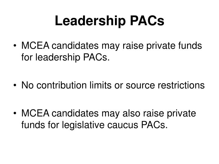 Leadership PACs