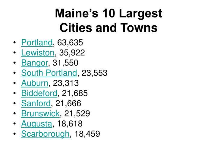 Maine's 10 Largest