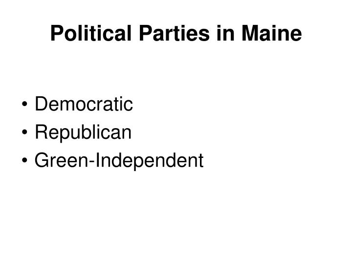 Political Parties in Maine