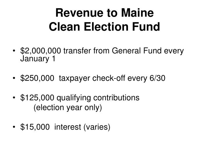 Revenue to Maine