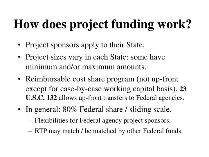 How does project funding work?