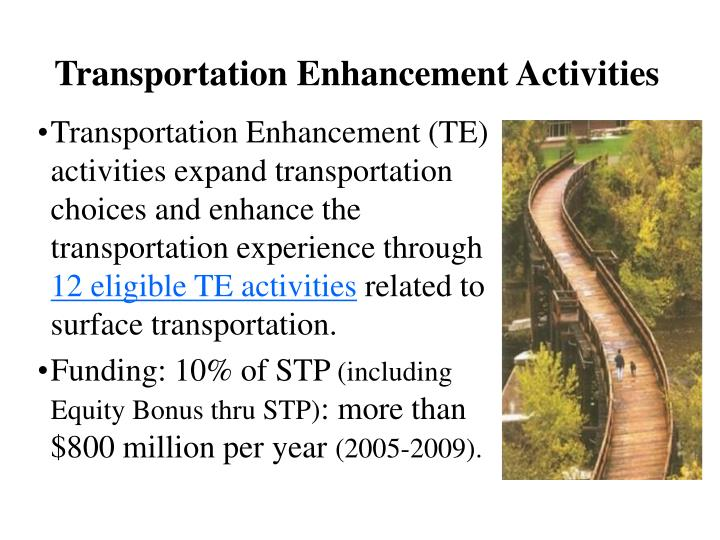 Transportation Enhancement Activities