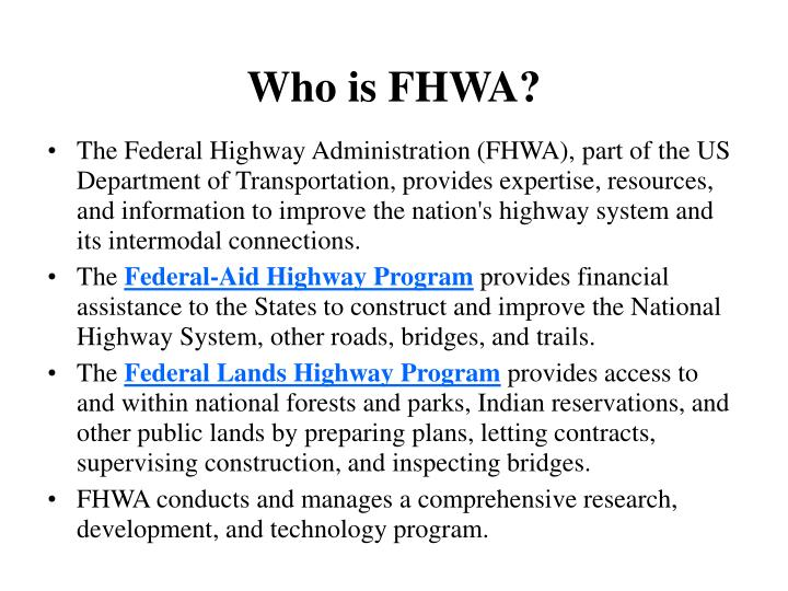 Who is fhwa