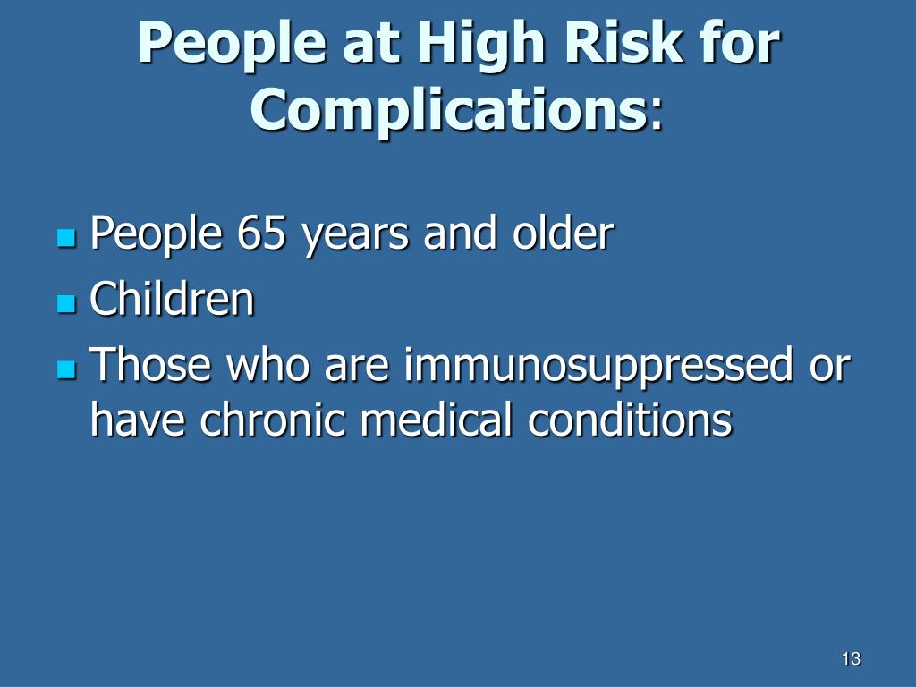 People at High Risk for