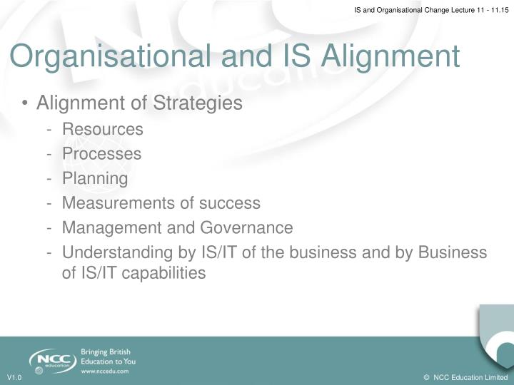 Organisational and IS Alignment