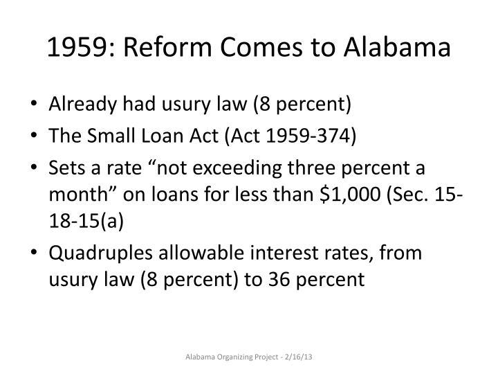 1959: Reform Comes to Alabama