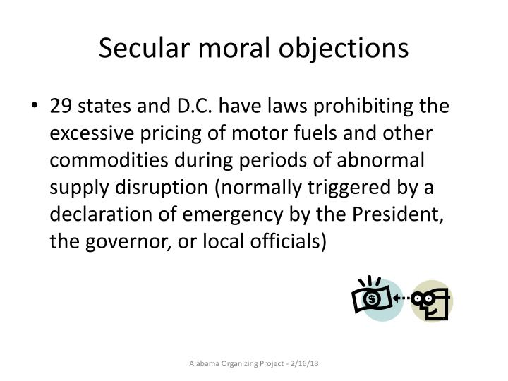 Secular moral objections