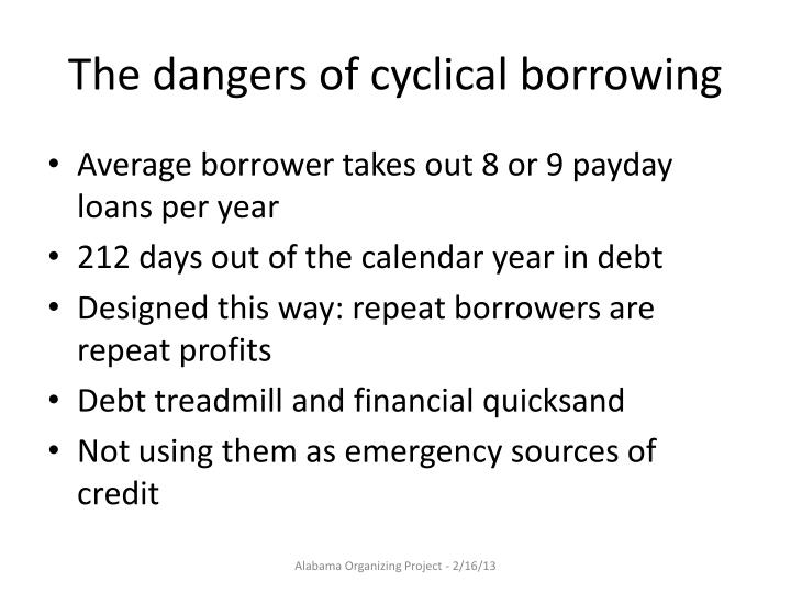 The dangers of cyclical borrowing