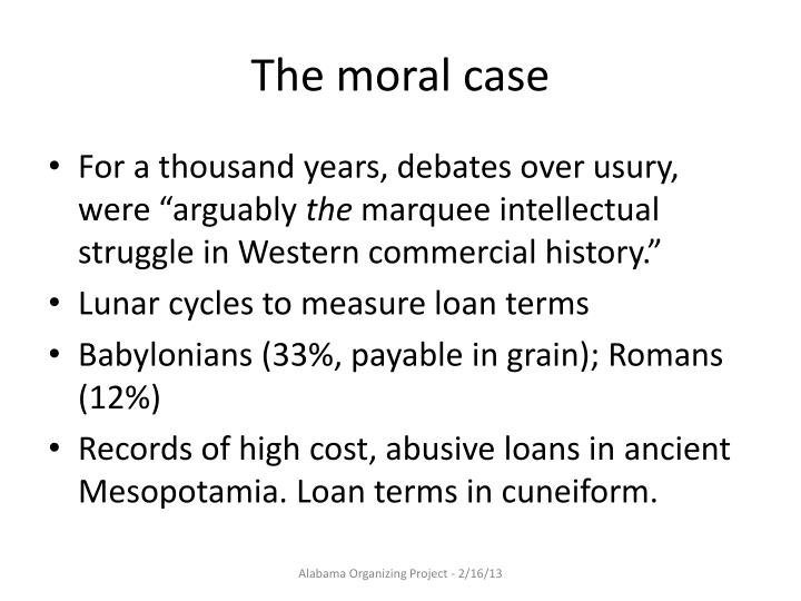 The moral case
