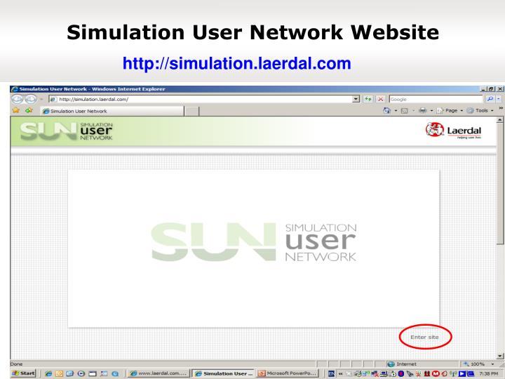 Simulation User Network Website