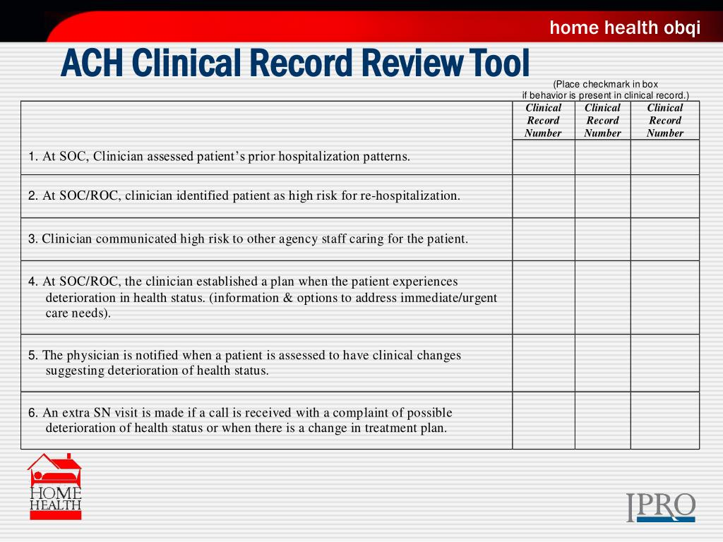 ACH Clinical Record Review Tool
