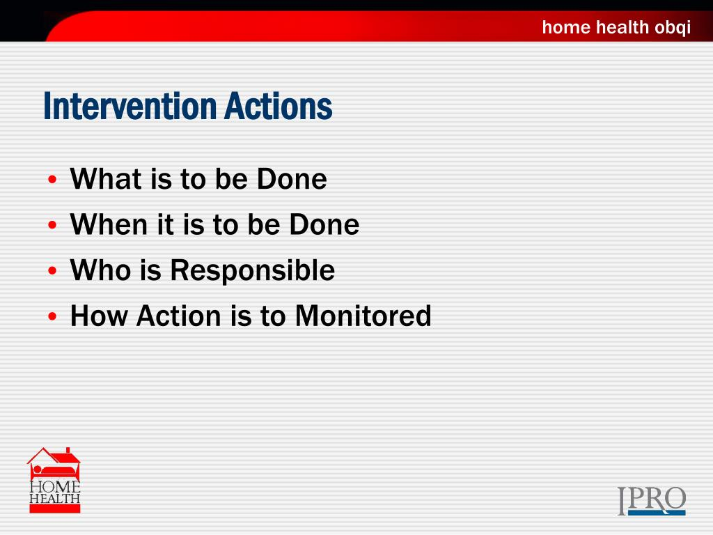 Intervention Actions