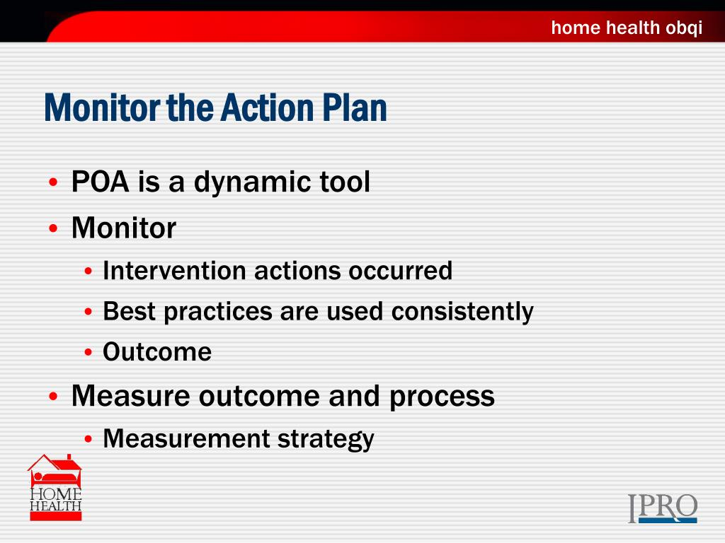 Monitor the Action Plan