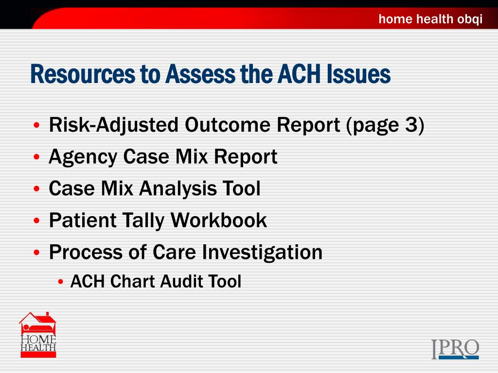 Resources to Assess the ACH Issues