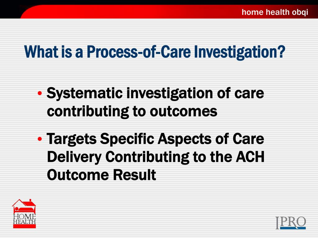 What is a Process-of-Care Investigation?