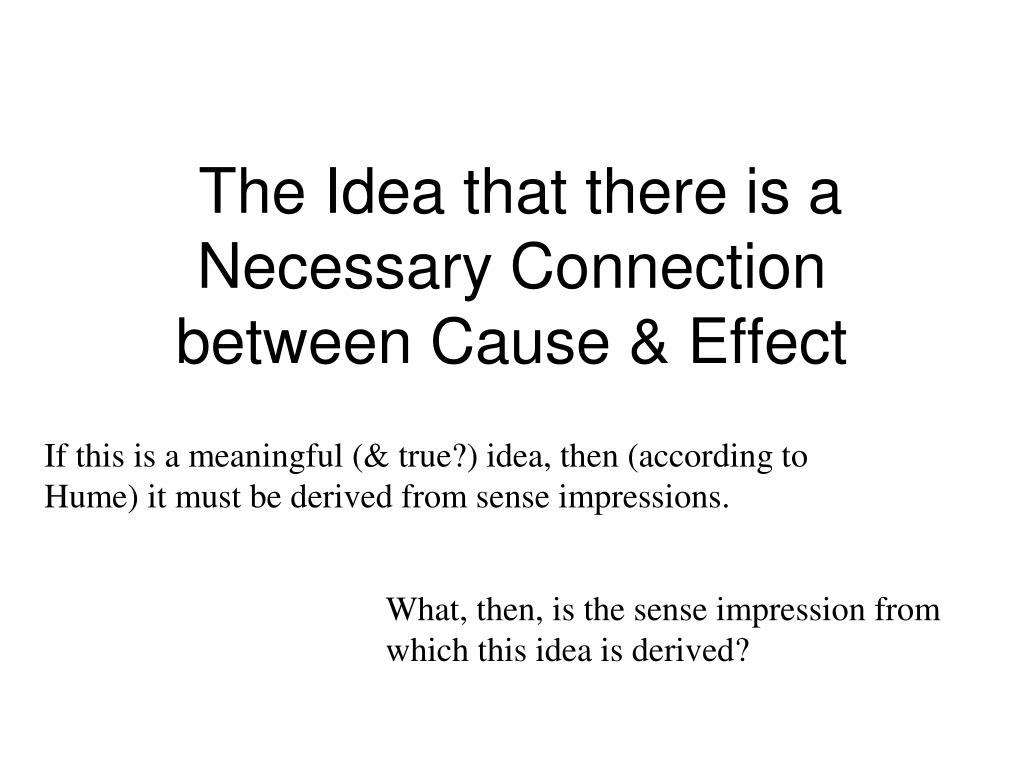 The Idea that there is a Necessary Connection between Cause & Effect