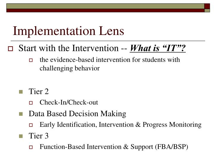 Implementation Lens