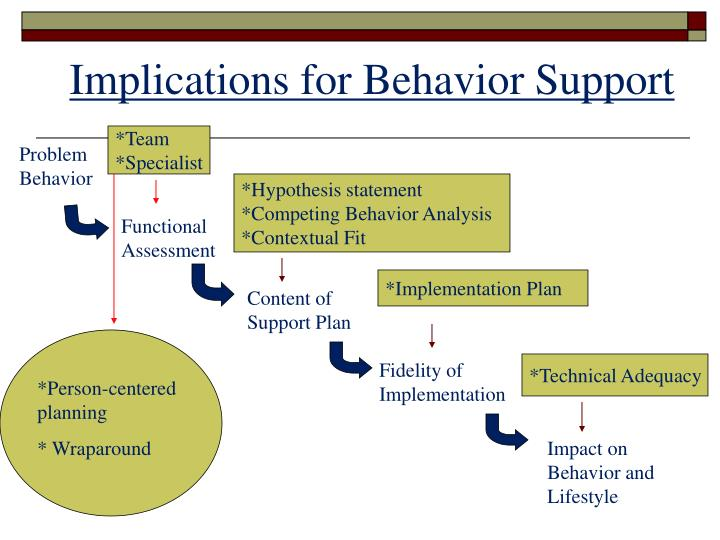 Implications for Behavior Support