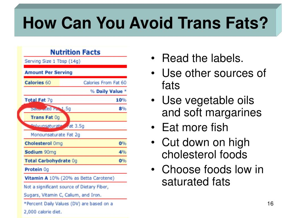 How Can You Avoid Trans Fats?