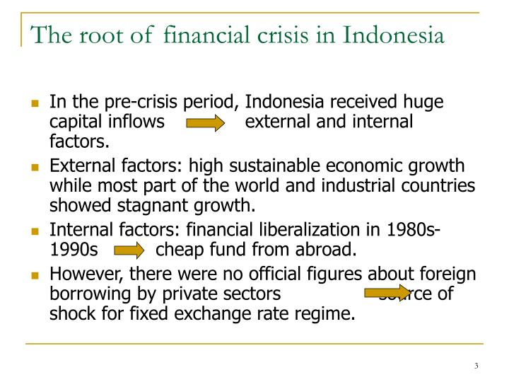 The root of financial crisis in Indonesia