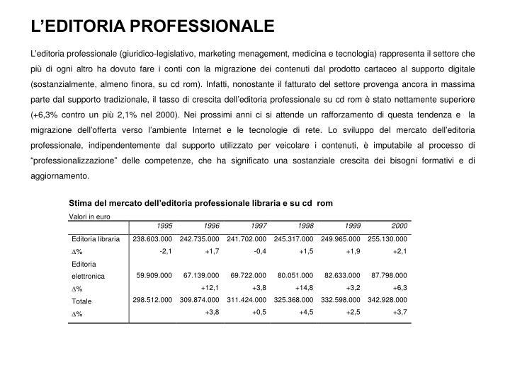 L'EDITORIA PROFESSIONALE