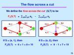 the flow across a cut