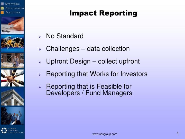 Impact Reporting